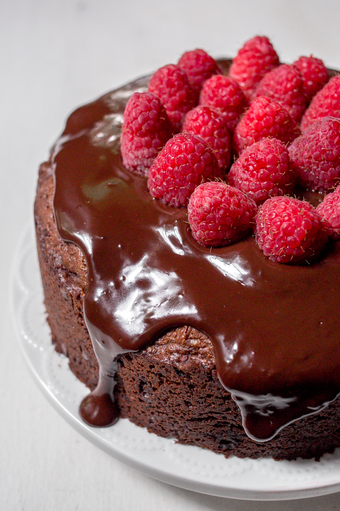 double chocolate raspberry cake | punctuated with food