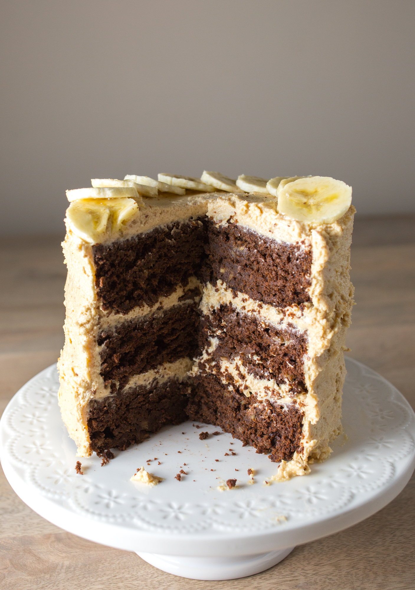 Cake With Chocolate Cream Cheese Frosting : healthy chocolate cake with peanut butter cream cheese ...