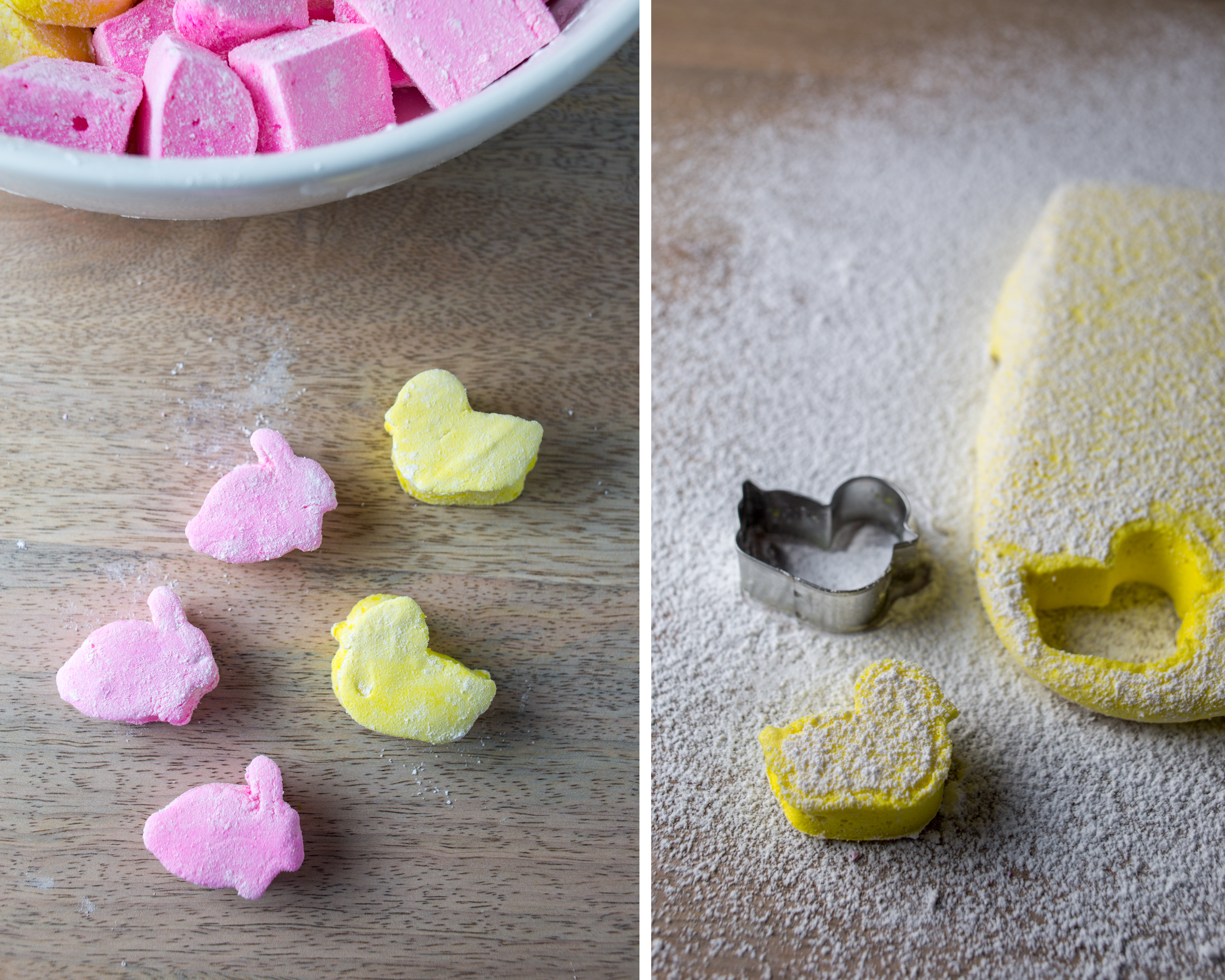 homemade easter marshmallows + naturally dyed eggs