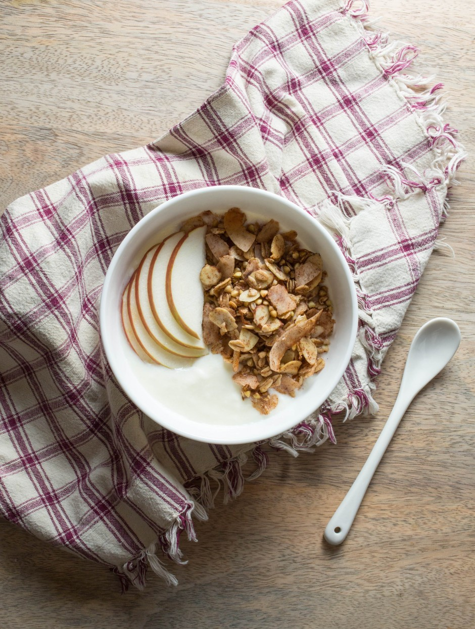 cinnamon buckwheat granola l punctuated. with food