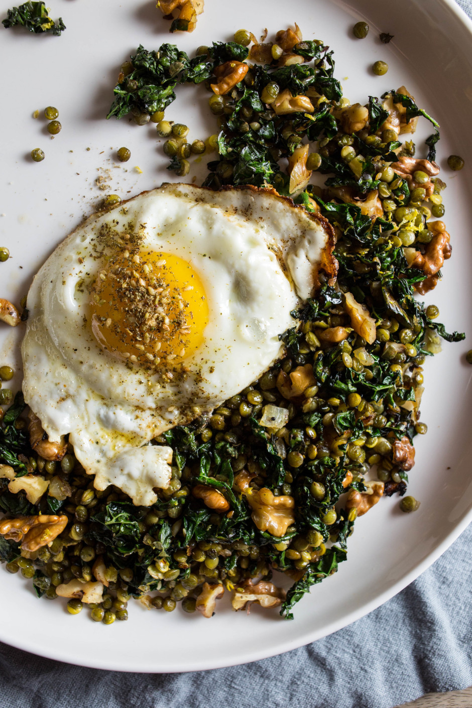 Crispy Lentils With Walnuts And Za Atar Punctuated With Food